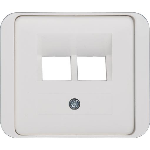 Elektro Abdeckung UAE inkl. Zwischenrahmen 2-fach